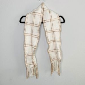Banana Republic Plaid Cashmere Wool Blend Scarf